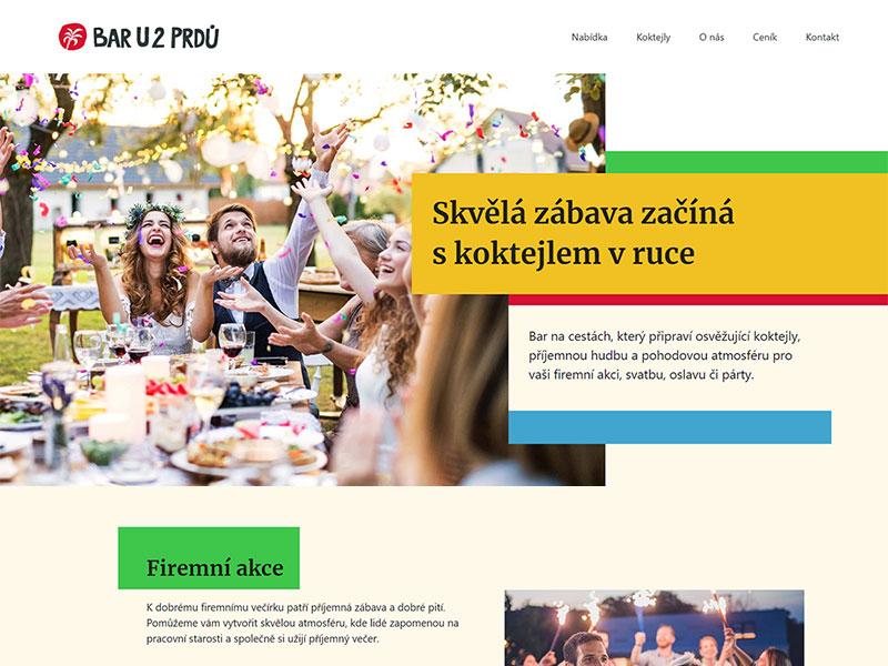 URVIHO - tvorba webových stránek pro bar na cestách