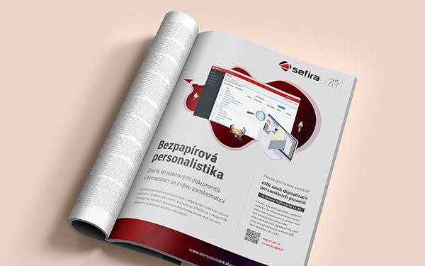 URVIHO - grafické studio - Inzerát na bezpapírovou personalistiku pro společnost SEFIRA