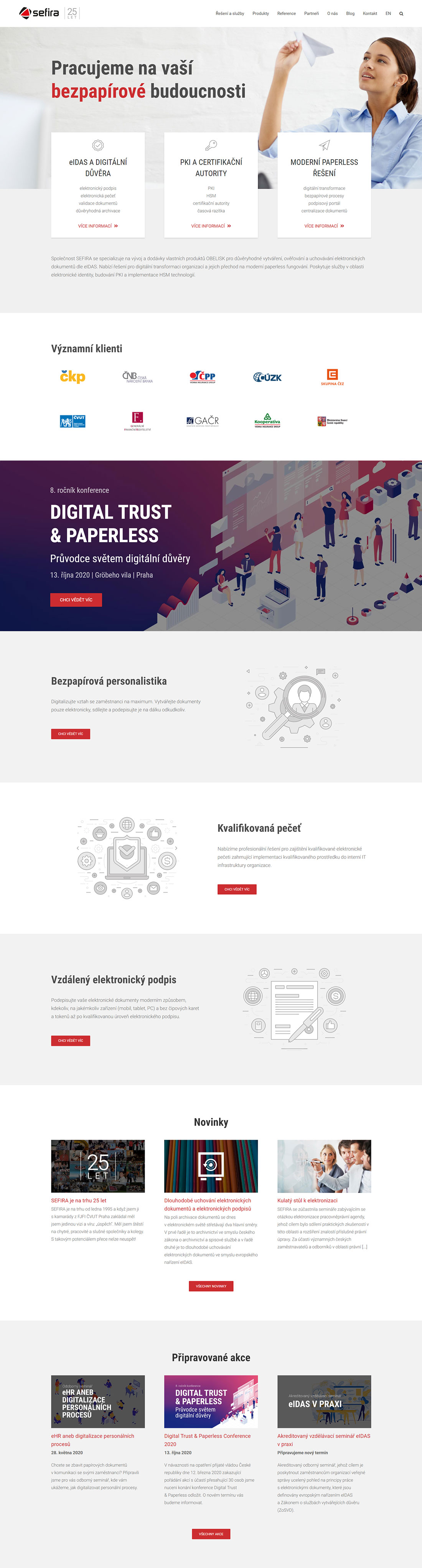 URVIHO - redesign www stránek - homepage