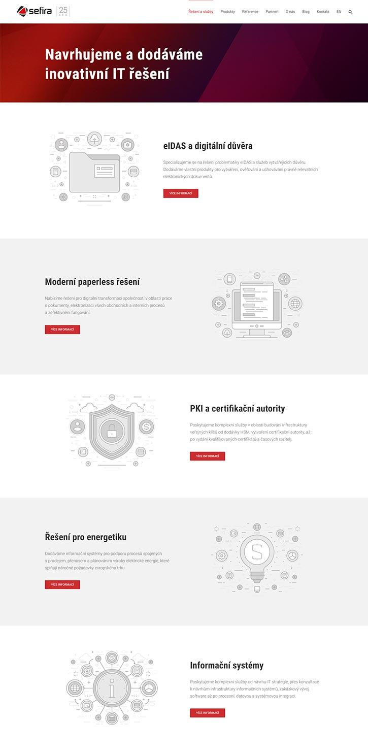 URVIHO - redesign www stránek - Nabídka služeb