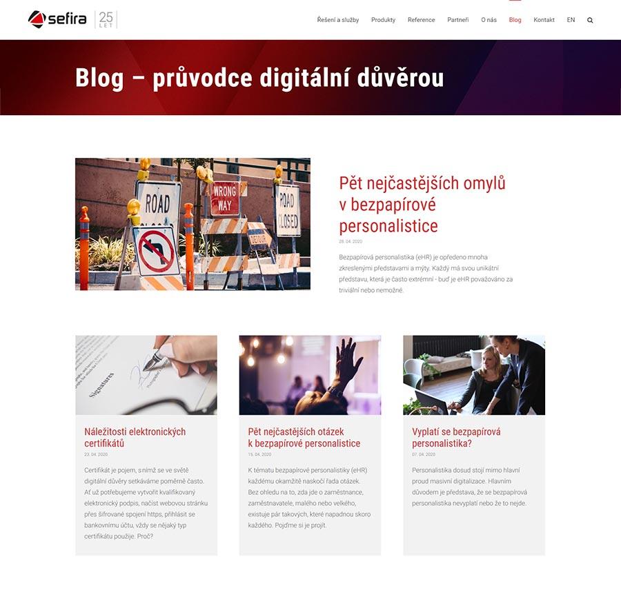 URVIHO - redesign www stránek - Blog