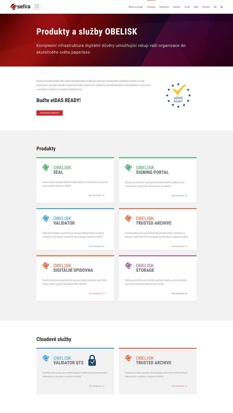 URVIHO - redesign www stránek - Seznam produktů