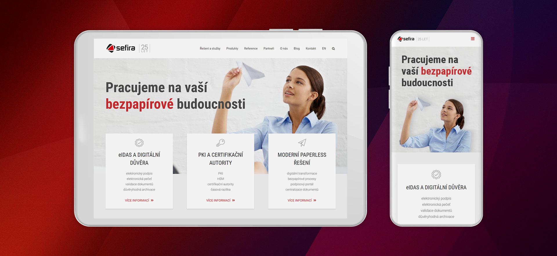 URVIHO - redesign www stránek - Responzivní design
