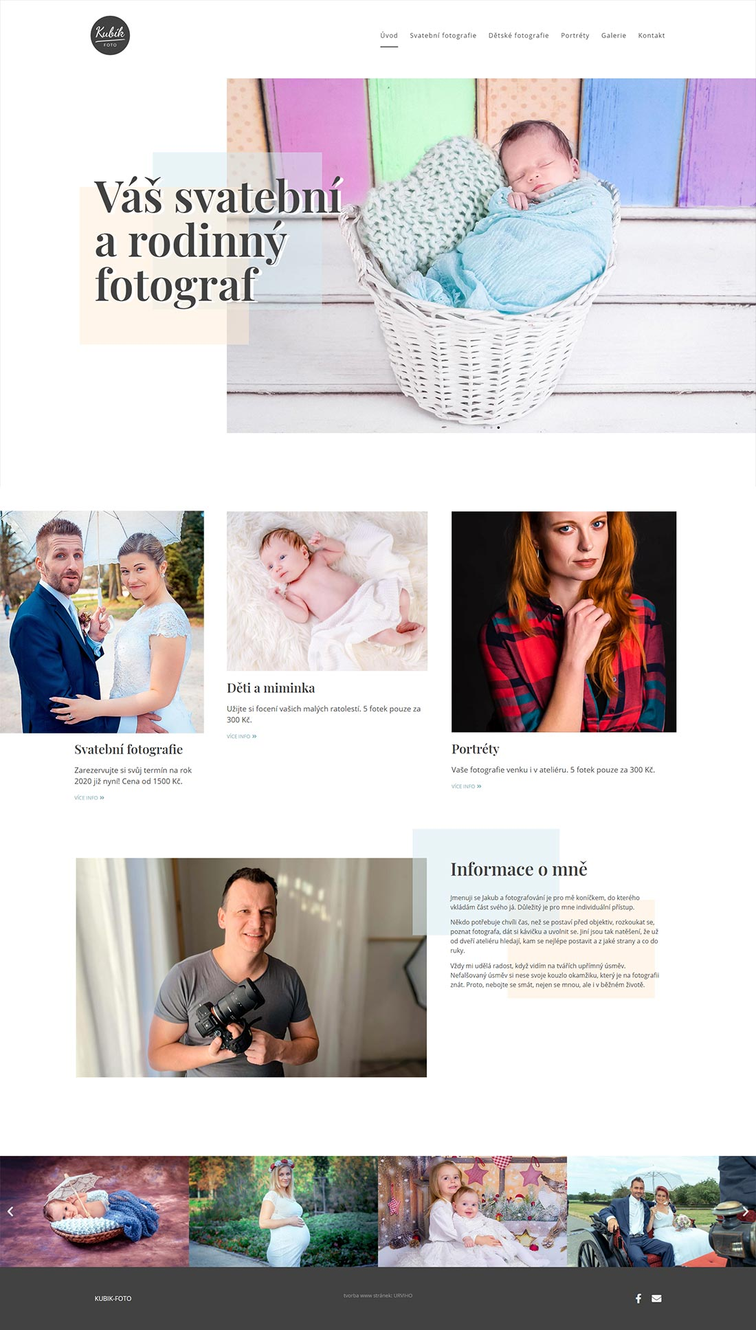 URVIHO - náhled nových www stránek