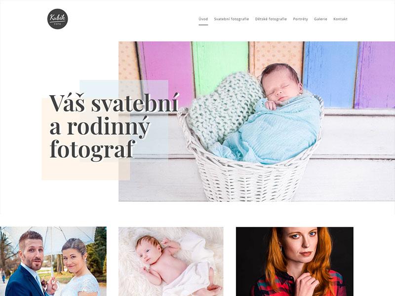 URVIHO - tvorba webových stránek pro fotografa
