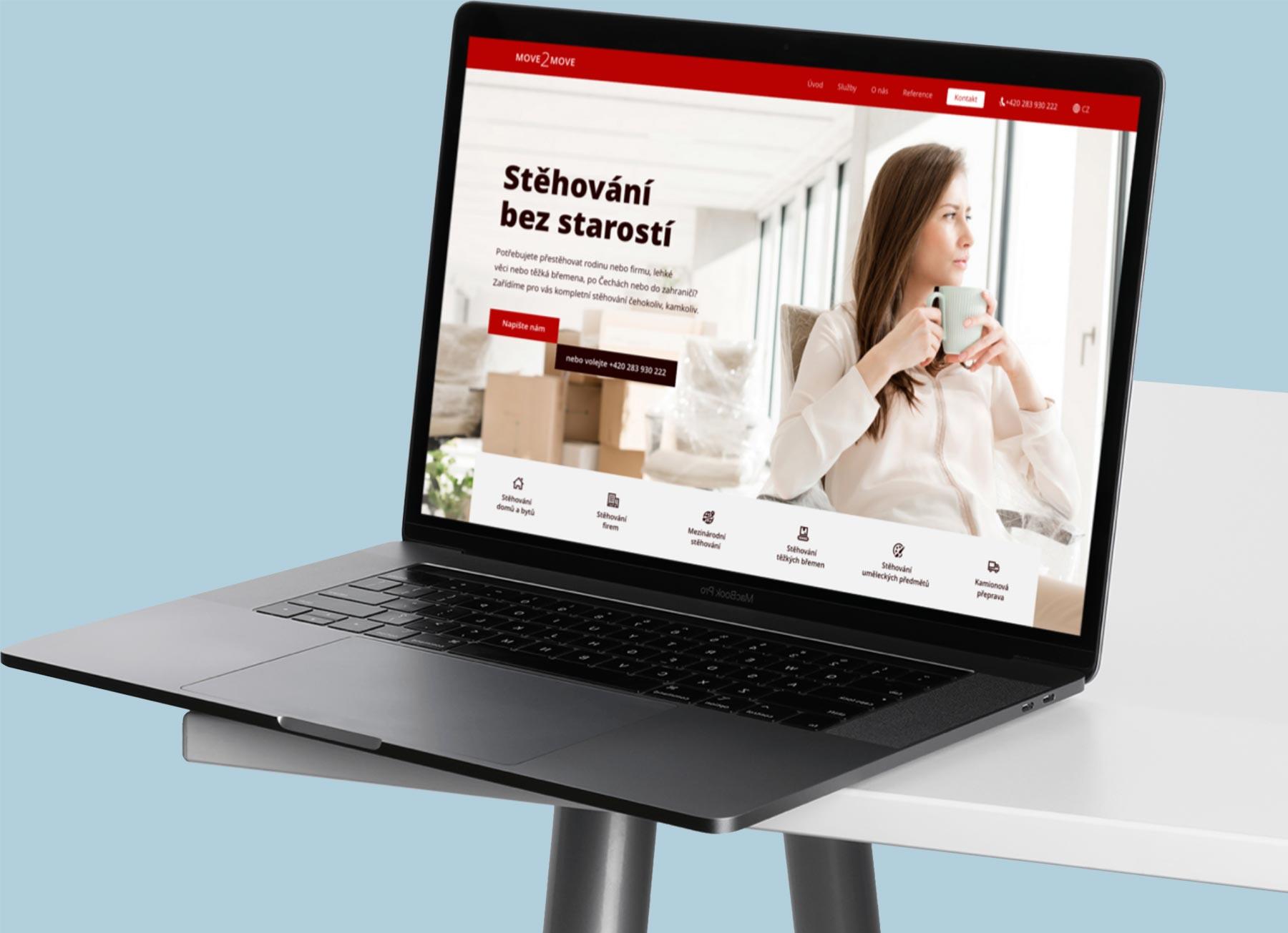 URVIHO - tvorba webových stránek na notebooku