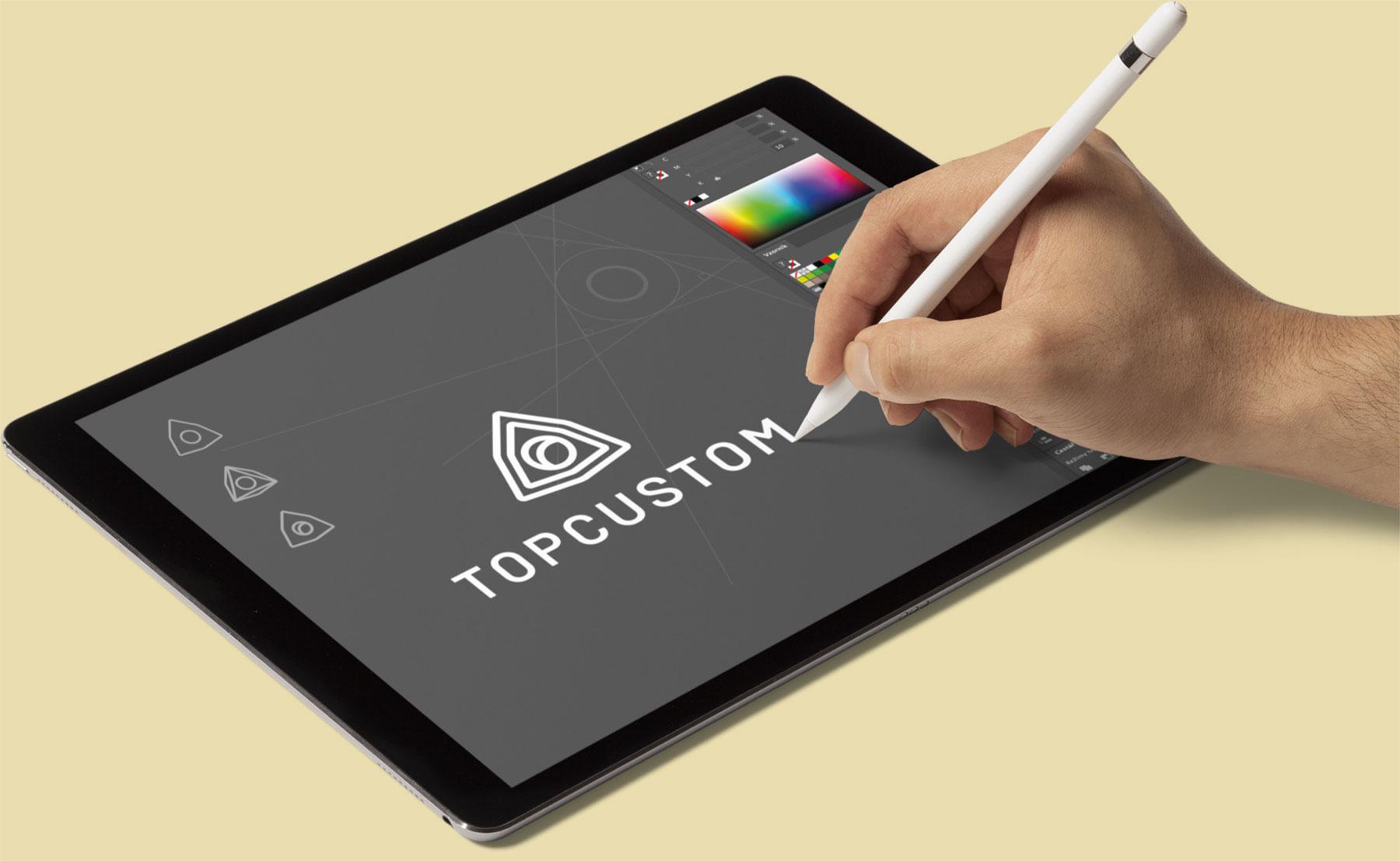 URVIHO - tvorba loga na iPadu