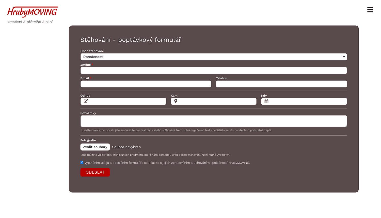 HrubyMOVING formuláře