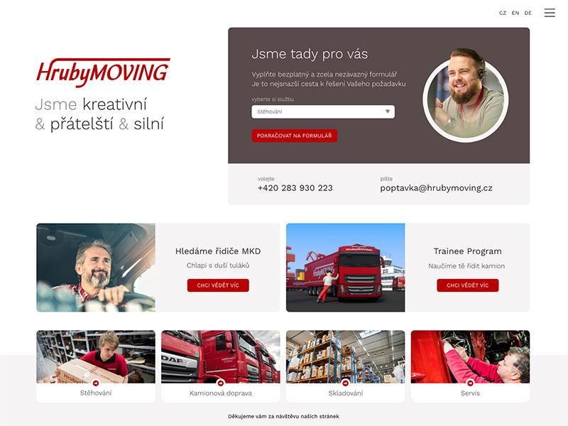 URVIHO - tvorba webových stránek pro stěhovací firmu