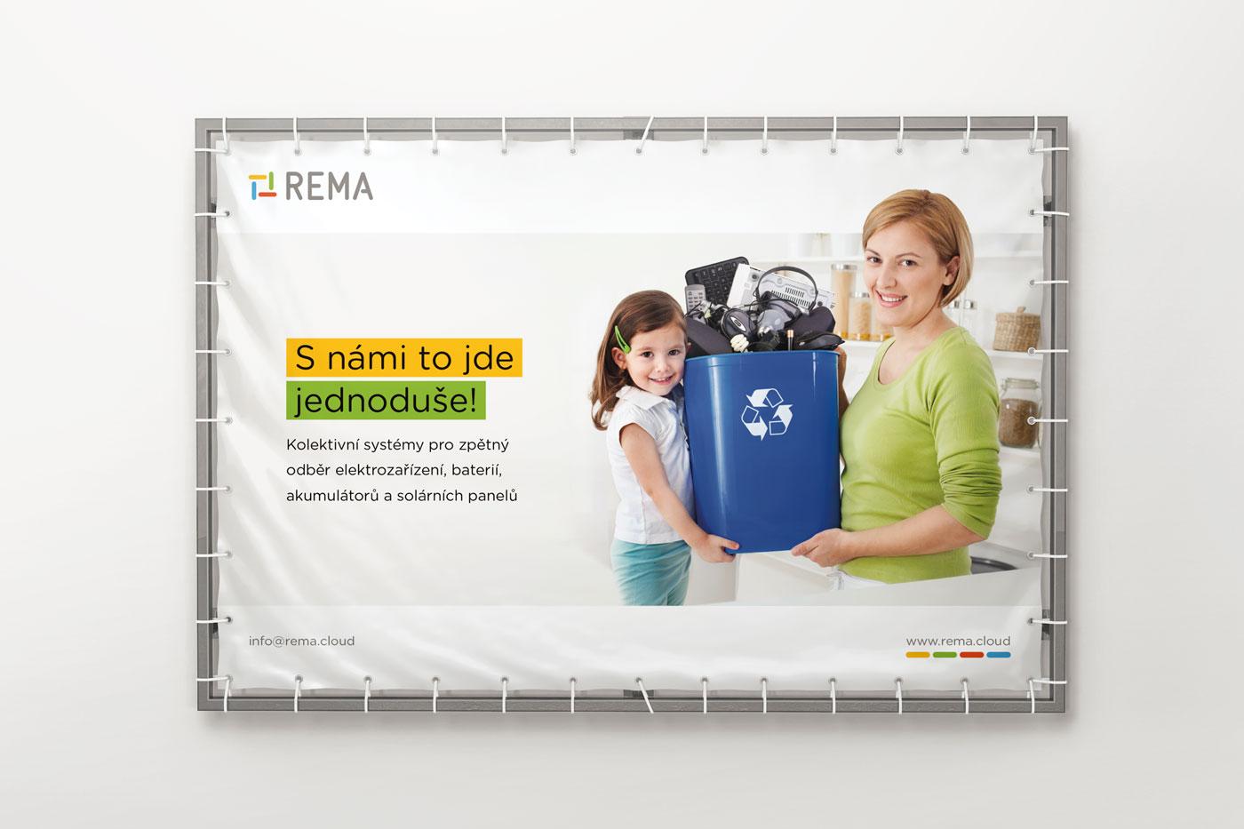 Návrh reklamního banneru pro společnost REMA - 1. varianta