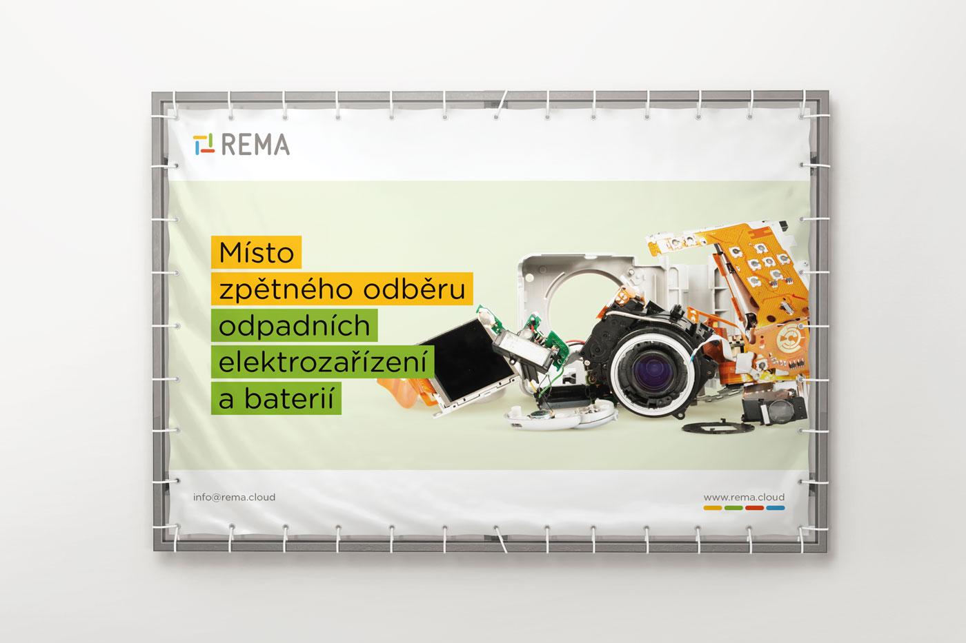 Návrh reklamního banneru pro společnost REMA - 3. varianta