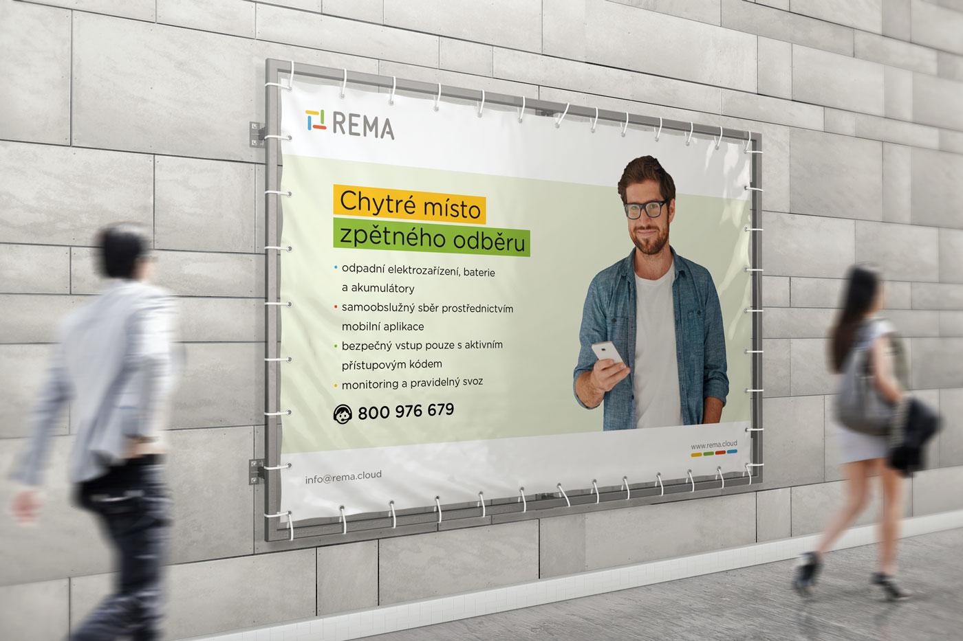 Návrh reklamního banneru pro společnost REMA - 2. varianta
