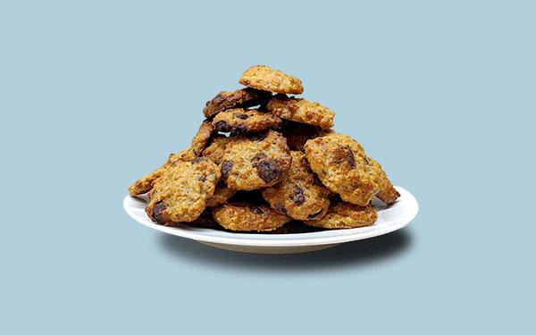 Sušenky na talíři
