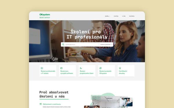 Grafický návrh webových stránek pro OK Školící Centrum - blog