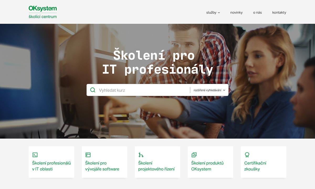 Grafický návrh webových stránek pro OK Školící Centrum